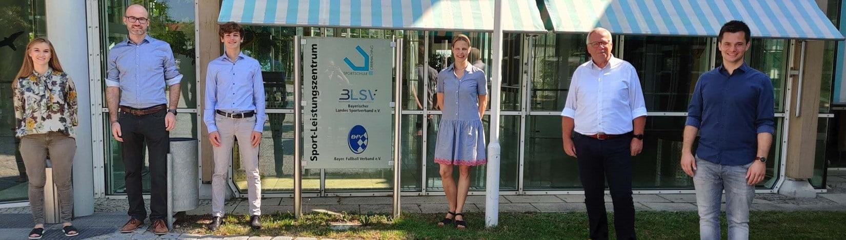 Treiben die Partnerschaft gemeinsam voran: ecoblue AG, Sportschule Oberhaching und BFV Service GmbH