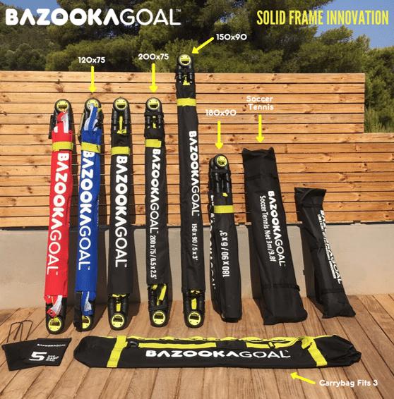 Bazookagoal eingepackt in verschiedenen Groessen