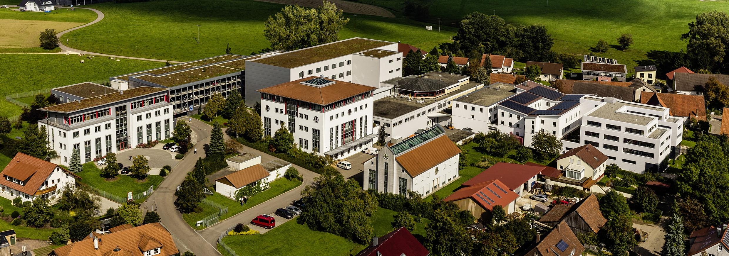 Luftaufnahme TELENOT Hauptsitz in Aalen